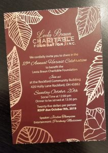 18th Annual Harvest Celebration Invitation